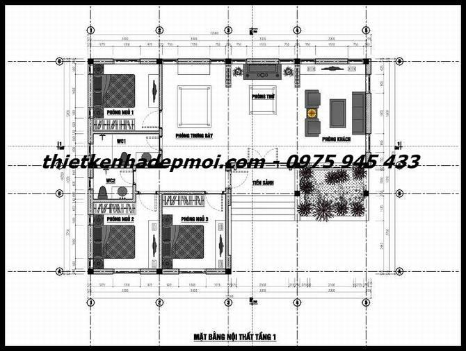 ban-ve-bo-tri-cac-phong-mau-nha-cap-4-chu-l-13x10m-6353