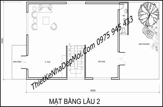 biet thu 3 tang kieu chau au 9x18 8896