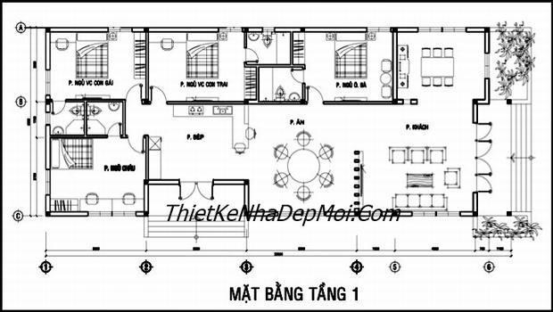 nha dep 1 tang kieu chau au 8883
