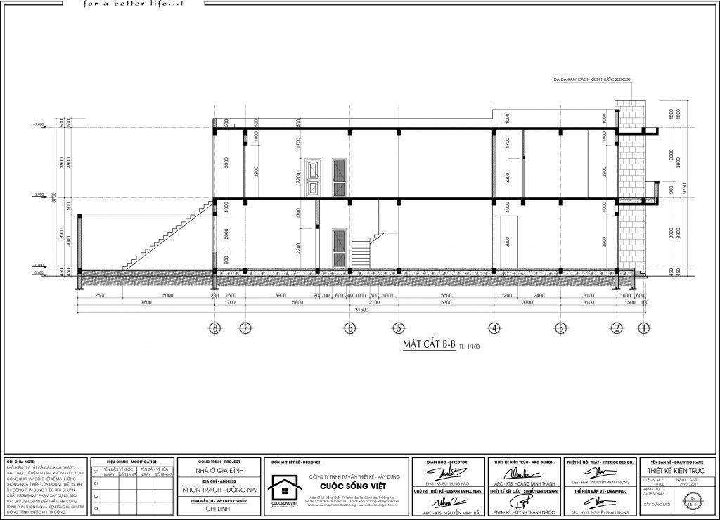 Mặt bằng nhà 2 tầng mặt tiền 10m