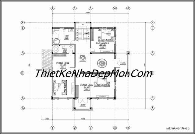 Không gian biệt thự lâu đài ông Sành tầng 2