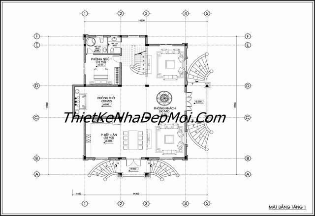 Mặt bằng thiết kế lâu đài tầng 1