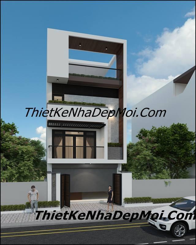 Mẫu thiết kế nhà 3 tầng 5x20 hiện đại