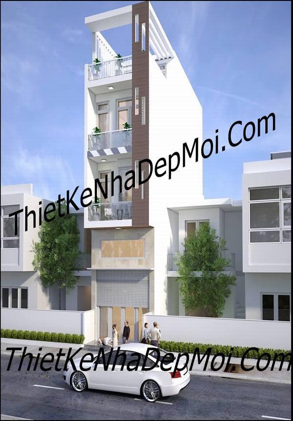 Mẫu nhà ống lệch tầng hiện đại 4m anh Giáp Bình Tân
