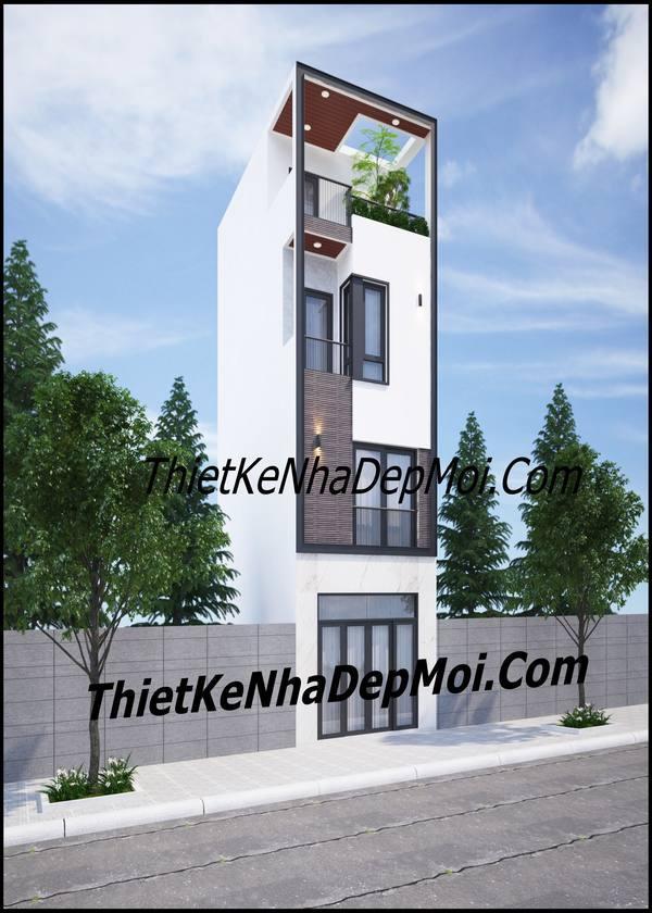 Mẫu nhà phố 4x10m 1 trệt 2 lầu 1 sân thượng