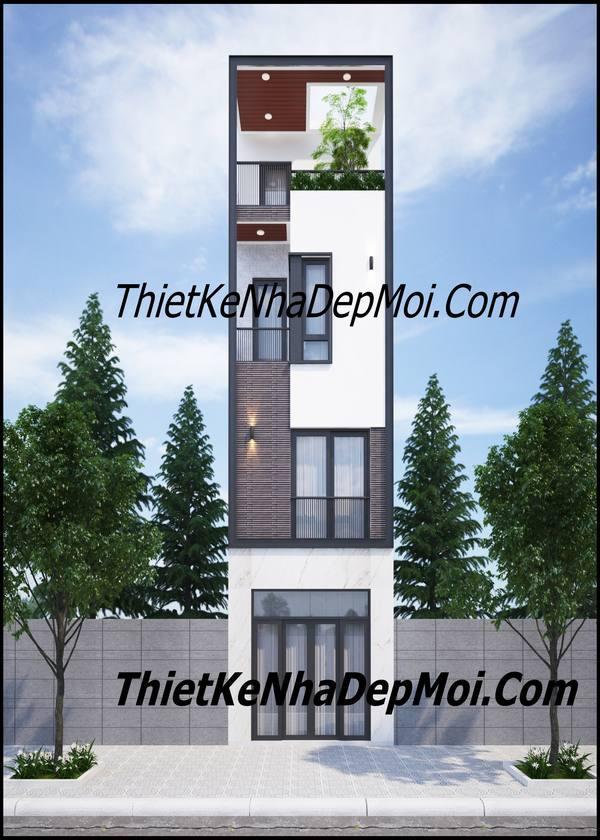 Bản vẽ thiết kế nhà lệch tầng 4x10m thông thoáng anh Quang TP HCM