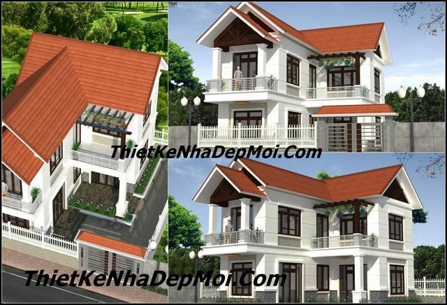 Thiết kế nhà 2 tầng 100m2 giá rẻ mái ngói ai nhìn cũng MÊ