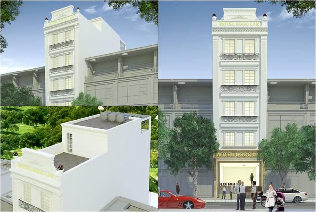 Thiết kế nhà nghỉ 5 tầng chị Lan Quảng Ninh