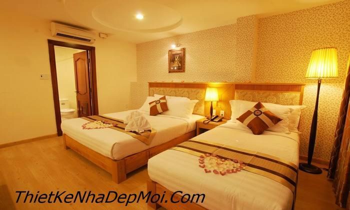 Mẫu nội thất phòng ngủ khách sạn tiêu chuẩn 3 sao đẹp 2017