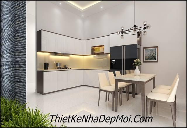 Thiết kế nhà bếp cấp 4 hiện đại