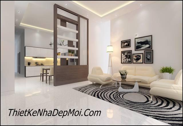 Phòng khách đơn giản mà đẹp chị Linh