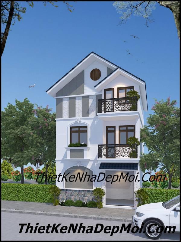 nhà mặt tiền 3 tầng mái thái