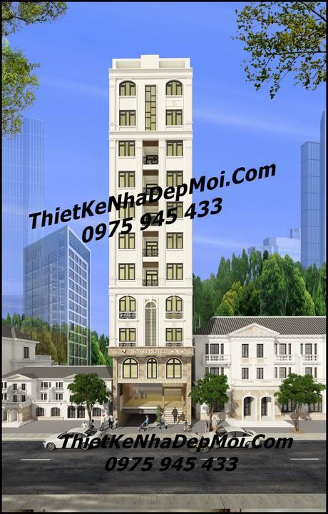 Thiết kế khách sạn 3 sao 9x20 12 tầng ở đà nẵng