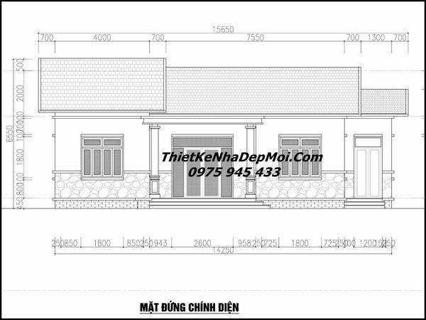 Bản vẽ kiến trúc nhà 3 gian đẹp
