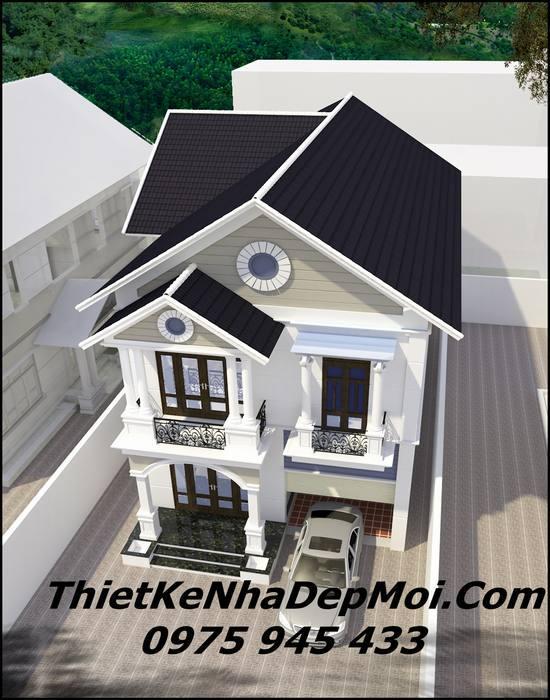 Biệt thự 1 trệt 1 lầu mái ngói đơn giản
