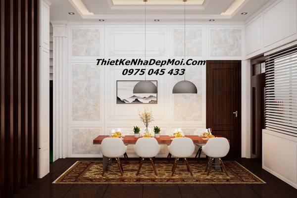 Mẫu thiết kế nội thất biệt thự đẹp 3 tầng anh Vân Bình Dương